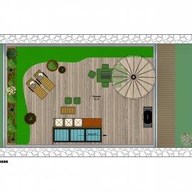 Loft de 121 m2 en duplex avec rooftop de 60 m2, terrasses de 10 m2 et 26 m2, parking, à aménager - Bordeaux Chartrons Saint-Martial