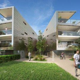 Appartement neuf avec terrasse et parkings - Bordeaux Caudéran, 2 chambres, ascenseur